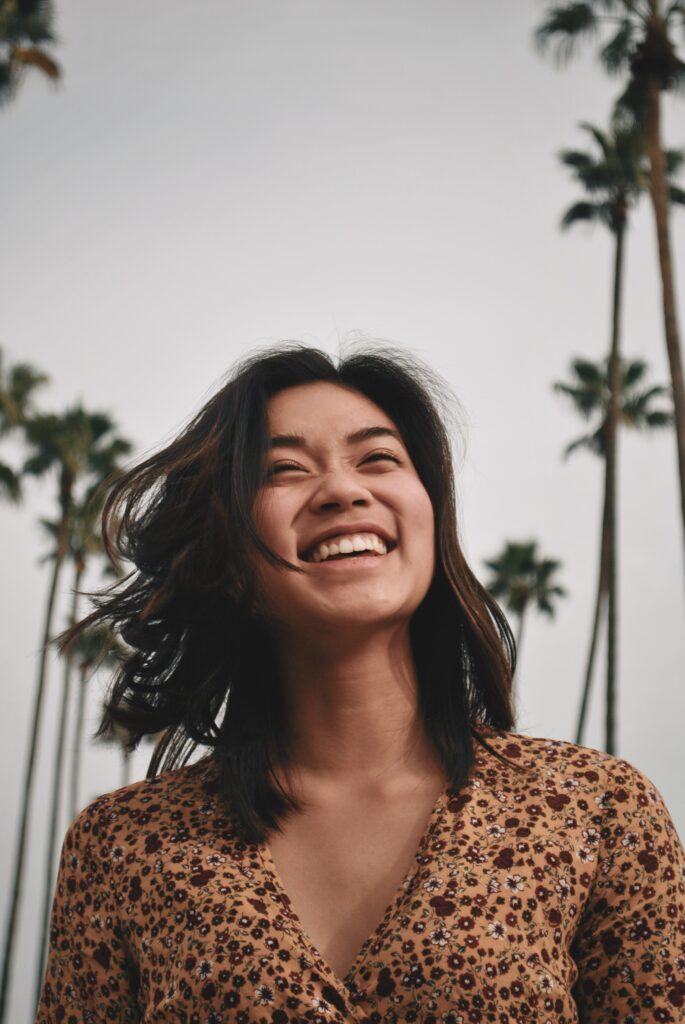 smiling happy woman